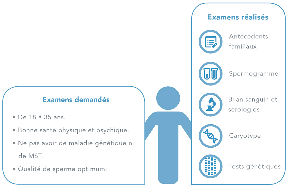 Requisitos donneurs de sperme (Horizontale)